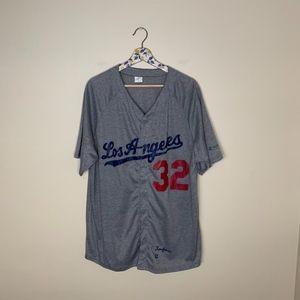 Los Angeles Dodgers gray knit short sleeve jersey